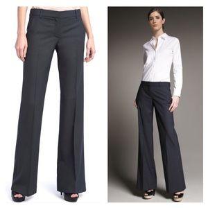 THEORY Gray Wide Leg Dress Pants